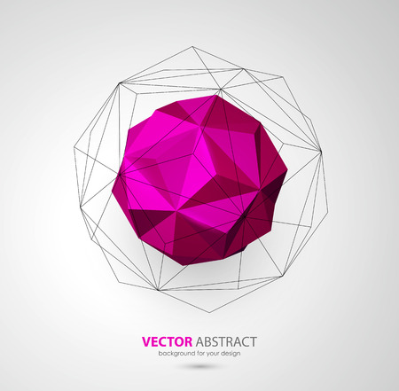 icosahedron: Vector abstract geometric background with triangles design elements Illustration