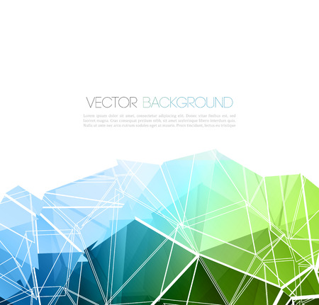blue green: Vector abstract geometric background with triangles design elements Illustration