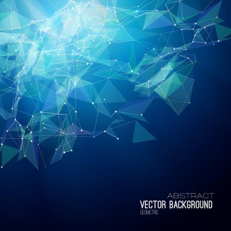 ベクトルの幾何学的な抽象的な背景。三角形のデザイン。EPS 10  イラスト・ベクター素材