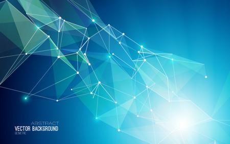blue energy: Vector Abstract Geometric Background. Triangular design. EPS 10