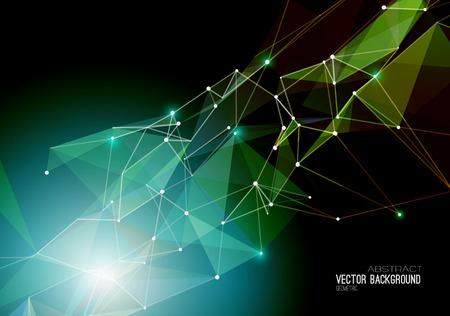 abstrakt: Vector Zusammenfassung geometrischen Hintergrund. Dreiecksform. EPS 10