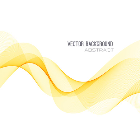 Vector abstract orange transparent wave background. Template brochure
