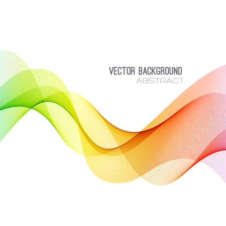 Spectre vectorielle Abstract courbé lignes de fond. Brochure conception. Vague colorée Vecteurs