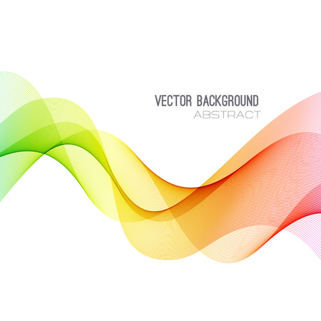 orange abstract: Vector Abstract spectrum curved lines background. Brochure design. Colorful wave