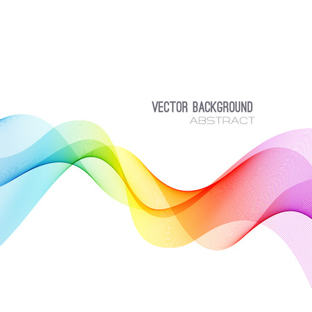 Vector Abstract spectrum curved lines background. Brochure design. Colorful wave
