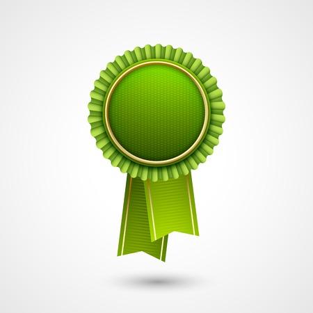 Green vector award badge with ribbons eco labels bio template green vector award badge with ribbons eco labels bio template ecology theme maxwellsz