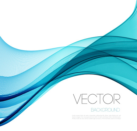 abstraction: Blue Smooth wave stream line abstract header layout. Vector illustration