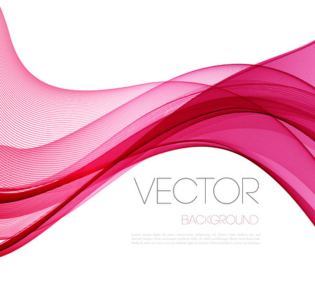text pink: Pink Smooth wave stream line abstract header layout. Vector illustration