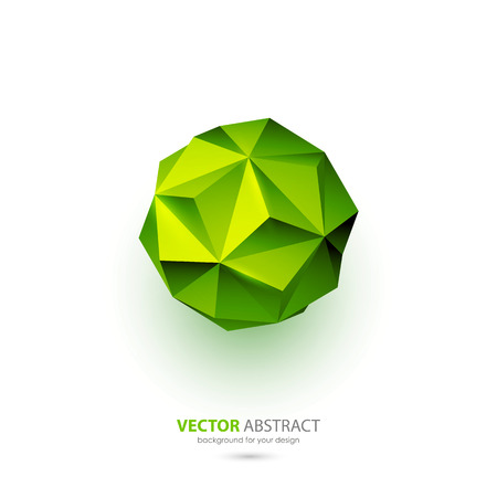 sphere logo: Vector abstract geometric background with triangles design elements Illustration