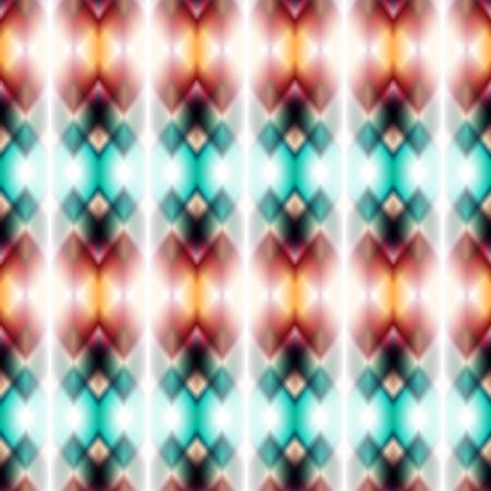 cherokee: Vector seamless ikat ethnic pattern. Boho design. Colored patten