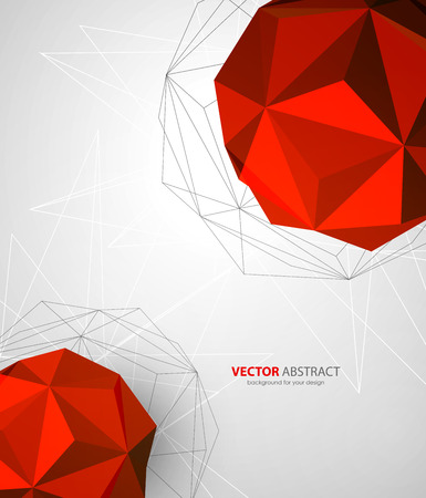 communications technology: abstract geometric background with triangles design elements