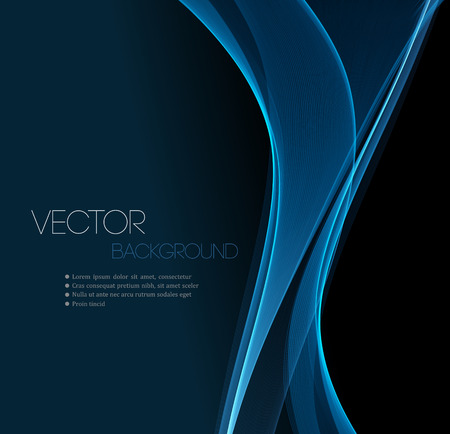 guay: Línea de corriente de onda suave diseño encabezado abstracto azul. Ilustración vectorial
