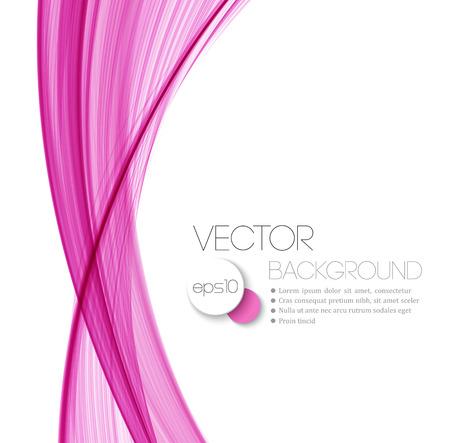 Diseño rosado de cabecera abstracta línea de corriente de onda suave. Ilustración vectorial Foto de archivo - 42662450