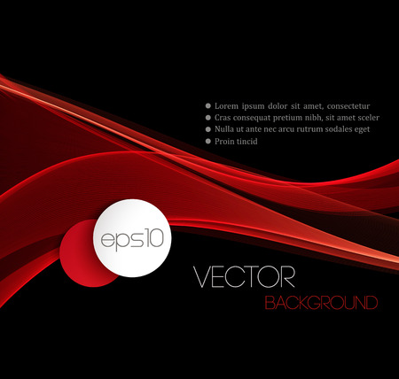 赤滑らかな波のストリーム ライン抽象的なヘッダーのレイアウト。ベクトル図  イラスト・ベクター素材