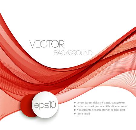 Red lisse ligne de courant d'onde tête abstraite disposition. Vector illustration