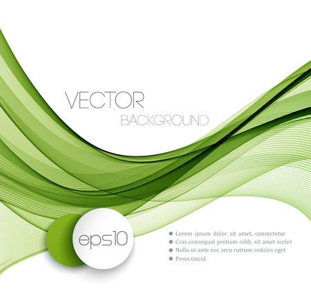 Vector Abstract Green geschwungene Linien Hintergrund. Vorlage Broschüre Design. Standard-Bild - 42662507
