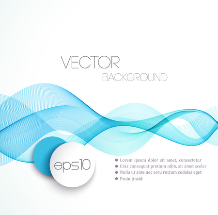 business abstract: Blue Smooth wave stream line abstract header layout. Vector illustration