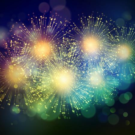 festival: Shiny Holiday Fireworks Background.