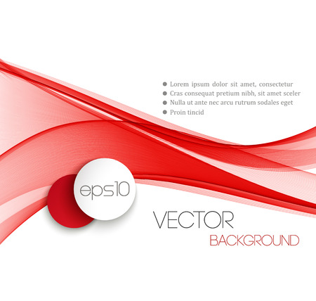 abstract red: Red Smooth wave stream line abstract header layout. Vector illustration