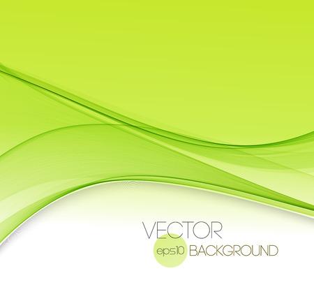 abstrakcja: Vector streszczenie zielone linie krzywe tło. Szablon projektu broszury.