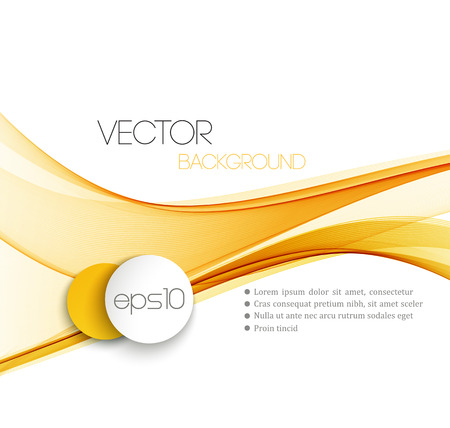 yellow orange: Vector Abstract  Orange curved lines background. Template brochure design.