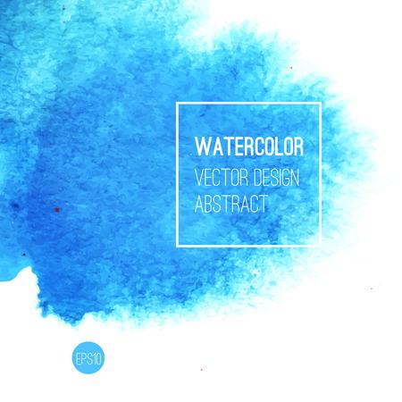 abstrakcja: Abstrakcyjna Akwarele tła. Niebieski ręczne akwarela tło, tekstury, akwarele plamy na mokrym papierze. ilustracji wektorowych
