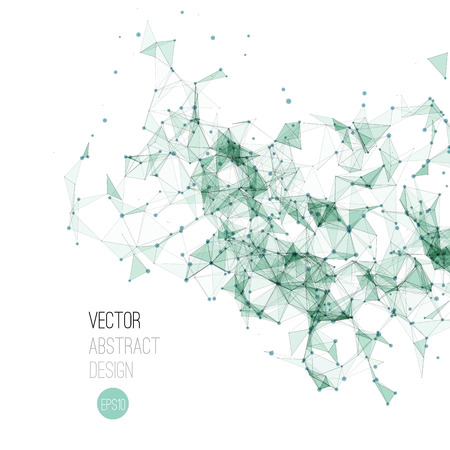 business abstract: Vector illustration Molecule And Communication Background. Molecular structure Illustration