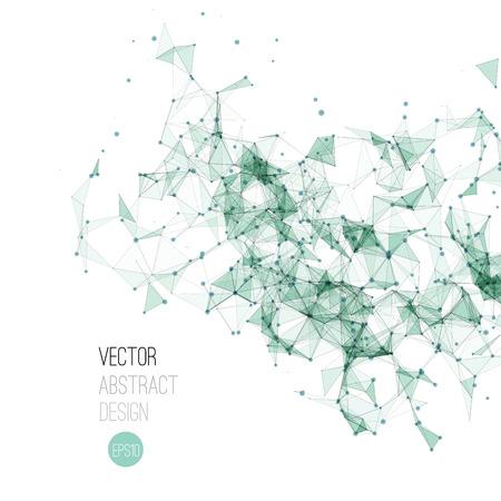 vector  molecular: Vector illustration Molecule And Communication Background. Molecular structure Illustration