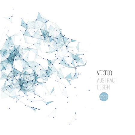 Vector illustration Molecule And Communication Background. Molecular structure Illustration