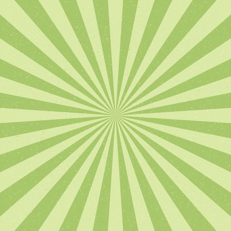 green lines: Vector Vintage background with Sun rays. Old paper with stains