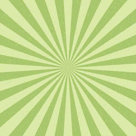 grün: Vector Vintage Hintergrund mit Sonnenstrahlen. Altes Papier mit Flecken Illustration
