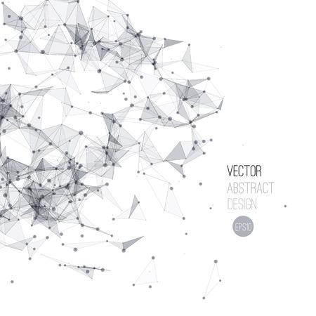fondo geometrico: Ilustración vectorial Molecule Y Fondo Comunicación. Estructura molecular