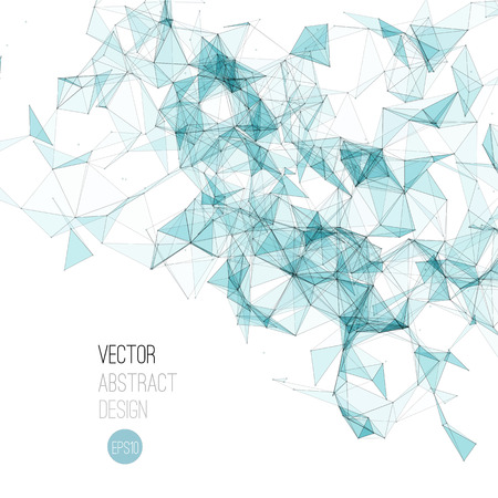 Vector illustration Molecule And Communication Background. Molecular structure Vectores