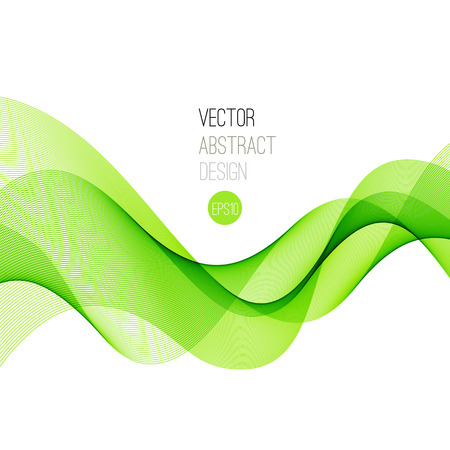 abstract green: Green Smooth wave stream line abstract header layout. Vector illustration