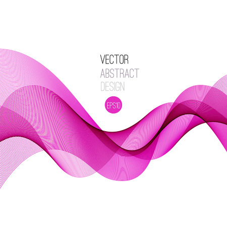 Pink Smooth wave stream line abstract header layout. Vector illustration