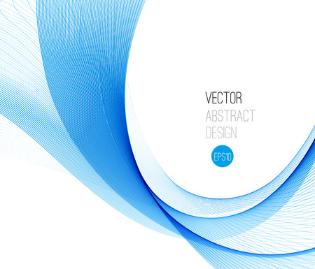 Blue Smooth wave stream line abstract header layout. Vector illustration 版權商用圖片 - 43548465