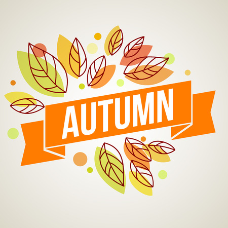 autumn colors: Autumn background with leaves. Vector illustration Eps10. Illustration