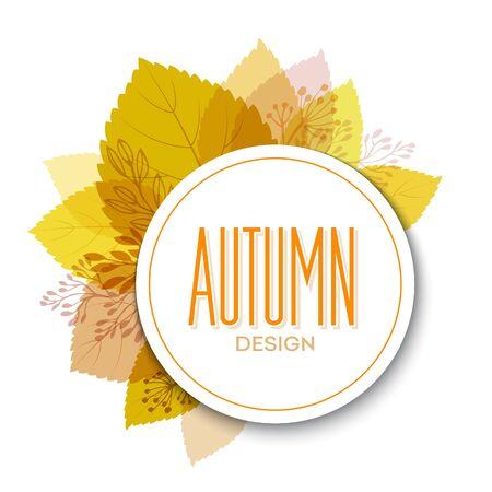 Fond automne avec les feuilles. Vector illustration Eps10.