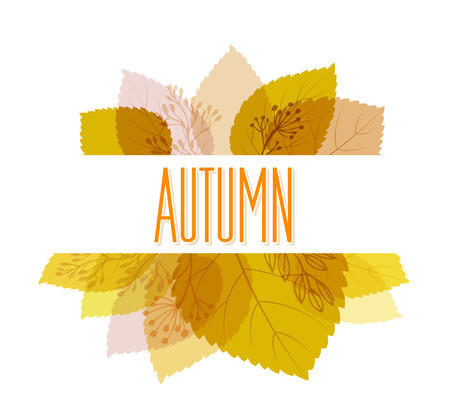 autumn leaves background: Autumn background with leaves. Vector illustration Eps10. Illustration