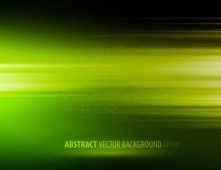Vector abstract horizontal energy design green color on dark background Vectores