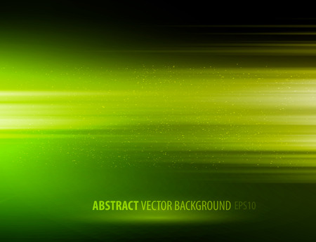 Vector abstract horizontal energy design green color on dark background Illustration