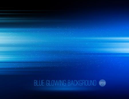 abstrakte muster: Vector abstract horizontale Energie Design blaue Farbe auf dunklem Hintergrund