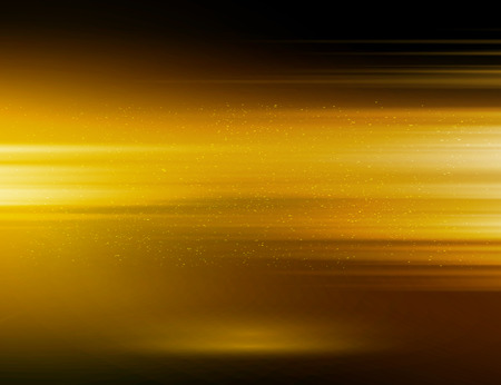 energy background: Vector abstract horizontal energy design gold color on dark background Illustration
