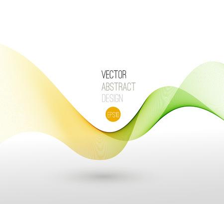 swirl background: Vector illustration template leaflet design with transparent color lines