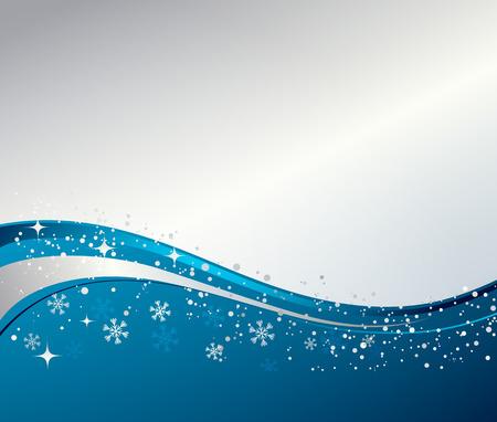 青い冬の抽象的な背景。