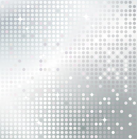 Shiny background with silver sequins. Template for your design.