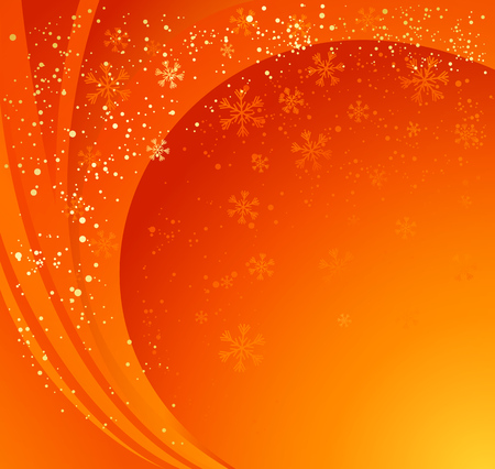 background orange: Orange winter abstract background.