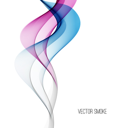 blue flame: Vector Smoke Abstract template background.