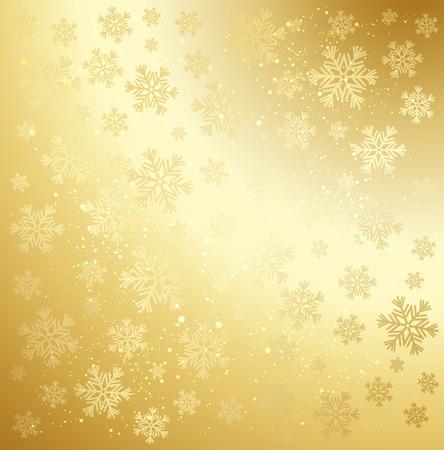 Gold winter abstract background.  Ilustração