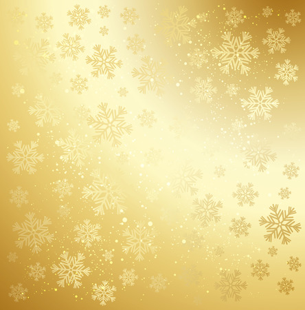 Gold winter abstract background.  Illustration